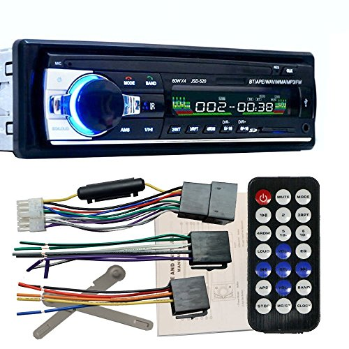 Zetong Autoradio Bluetooth Voiture Bluetooth Stéréo de Radio Lecteur Autoradio de bord FM entrée USB Fm SD MP3 Récepteur Radio (modèle 520)