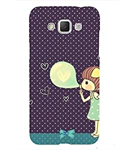 Girl Blowing Balloons 3D Hard Polycarbonate Designer Back Case Cover for Samsung Galaxy Grand 3