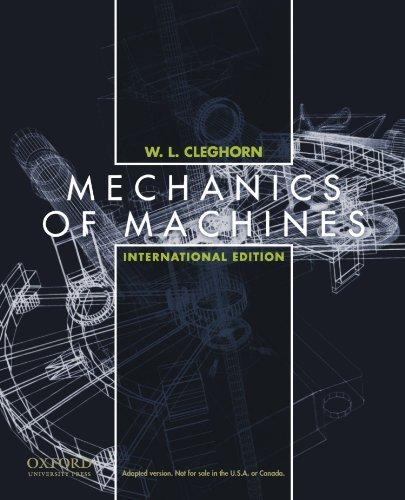 Mechanics of Machines: International edition [Paperback] by Cleghorn, William