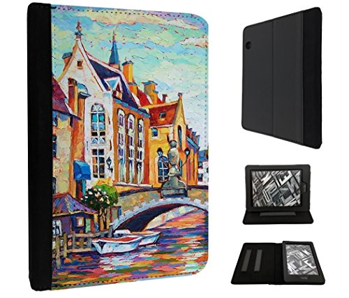806 - Cool Fun Europe Painting Design Amazon Kindle Voyage 6