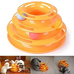 COCOPET Cat IQ Toy - Funny Tower of Tracks Cat Toys Interactive Best Ball - Pet Amusement Interactive Board Game Toys