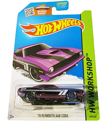 Hot Wheels - 2015 HW Workshop - Nightburnerz 199/250 - '70 Plymouth AAR Cuda (purple) - 1