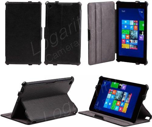 ヤマダ電機 EveryPad Pro/Dell Venue 8 Pro用 スタイリッシュケース 黒ブラック【ネットショップ ロガリズム】DVP8001-K