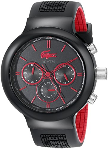 Lacoste 2010652 Boneo Black/Red Stainless Steel Watch
