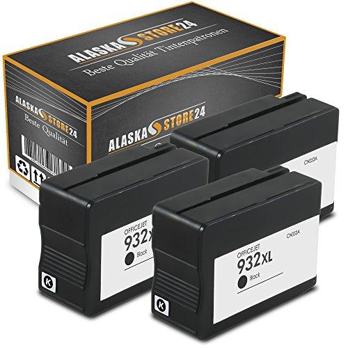 ATP 3x Kompatible Tintenpatronen Druckerpatronen Als Ersatz für Hp 932 XL (Schwarz , Black)