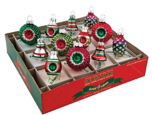 RADKO Shiny Brite Mini Mixed Shapes Vintage Christmas Ornaments ...