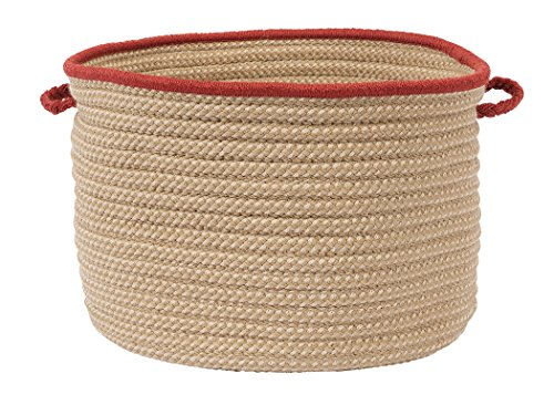 Colonial Mills Boat House Basket, 24 by 14-Inch, Rust Red - 1