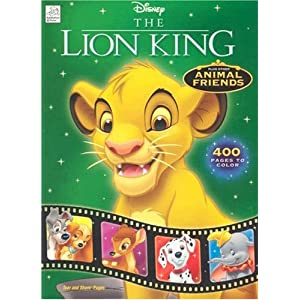 disney the lion king and animal friends 400 pages of