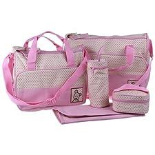 Ecosusi 5 in 1 Bear Diaper Tote Bag (pink) by Ecosusi (English Manual)