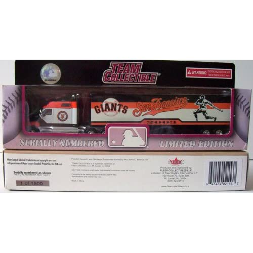 2003 MLB Team Collectible   SAN FRANCISCO GIANTS DIECAST SEMI TRACTOR TRAILER TRUCK   180 Scale Die Cast Collectible Tractor Trailer