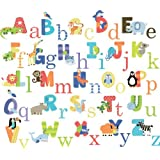 CherryCreek Decals Animal Alphabet Nursery Peel & Stick Wall Art Sticker Decals For Boys And Girls (alphabet)