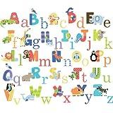 CherryCreek Decals Animal Alphabet Nursery Peel & Stick Wall Art Sticker Decals For Boys And Girls (alphabet)