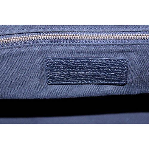 Burberry Womens Sycamore Leather House Check Hobo Handbag Black Medium