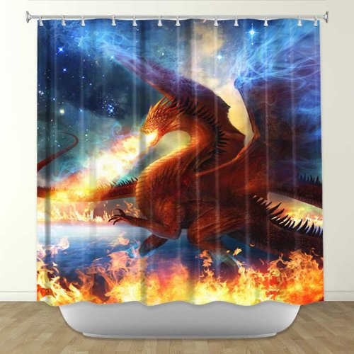 Dragon Shower Curtains - Gifts for Dragon Lovers