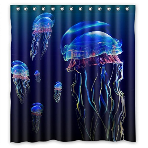 Wonderful sea world changeful jellyfish Shower Curtain Measure 66