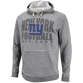 NFL Mens New York Giants Crucial Call Ath Gray Heather Natural Long Sleeve Hooded... by VF LSG