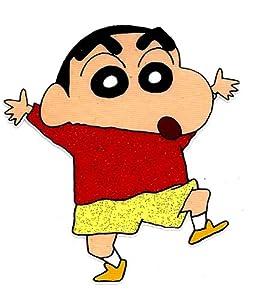 Crayon Shin-chan red shirt yellow pants Heat  Iron On Transfer for T-Shirt ~ Kureyon Shin-chan