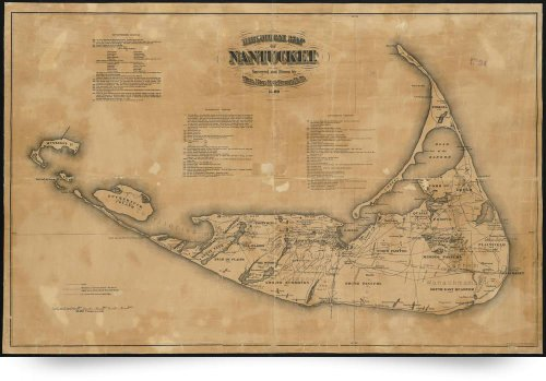 Vintage Map Of Nantucket (1869) (Giclee Art Print), Alleycatshirts @Zazzle front-932927