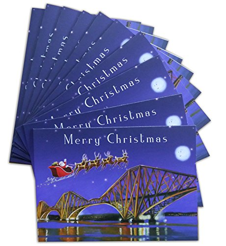 santa-over-the-forth-bridges-scottish-christmas-cards-pack-of-10