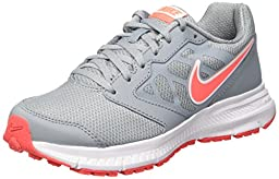 Nike Women\'s Downshifter 6 Dove Grey/Hot Lava/White Running Shoe 7.5 Women US
