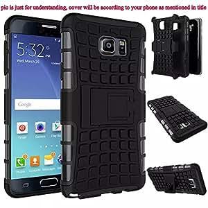 Kickstand Hybrid Dual Armor Case Cover for Samsung Galaxy ON 5 Rugged Black