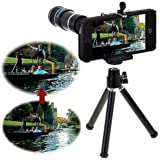 Neewer 12X Optical Zoom Telescope Camera Lens + Tripod + Case for Apple iPhone 5 5S 5C(Black)