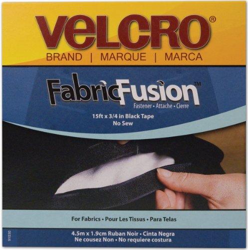 """Discover Bargain VELCRO(R) brand Fabric Fusion Tape 3/4""""X15'-Black"""