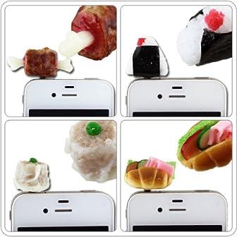 イヤホンジャックに挿すプラグinアクセサリー「PLUG APLI」 食品サンプル(骨付き肉)【スマピ/スマートフォンピアス】