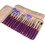 Purple 16pcs Professional Cosmetic Makeup Make up Brush Brushes Set Kit with...