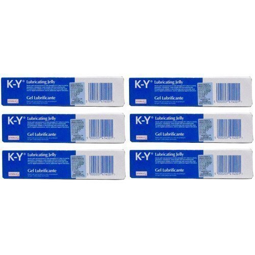 SIX PACKS of K-Y Gel Lubricating Sterile Jelly 82g by K-Y (K Y Lubricating Jelly compare prices)