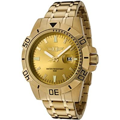 I By Invicta Men's 43628-005 18k Gold-Plated Stainless Steel Gold Dial Watch