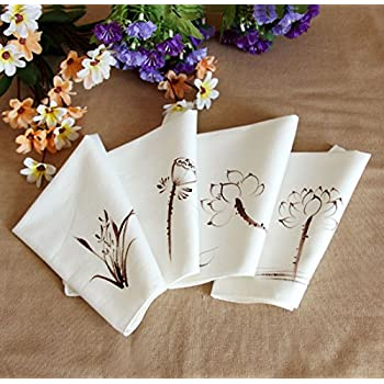 Ladies Chinese Antique Style Soft Cotton Linen handkerchiefs