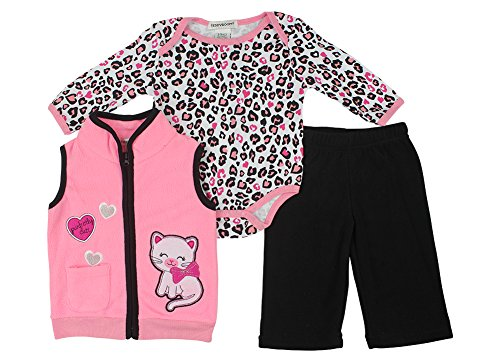Alfa Global Baby-Girls Infant Three-Piece Micro-Fleece Set Pink 3-6 Months back-629840