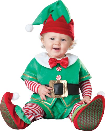In Character Baby Santas Helper Infant Christmas Elf Holiday Costume Small front-940643