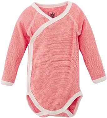 Petit Bateau - Body - À rayures - Mixte bébé - Multicolore (Gingembre/Lait) - FR: 1 mois (Taille fabricant: 1 Mois)