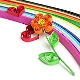 Outus 26 Colors 1040 Strips Paper Quilling Sets, 3/ 5/ 7/ 10 mm, 4 Sets