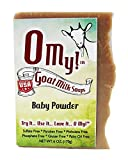 O My!Tm Baby Powder Goat Milk Soap All Natural, Palm Oil Free, Handmade Soap Made In Usa