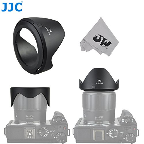 JW LH-JDC100 Lens Hood For Canon PowerShot G3 X / SX60 HS / SX50 HS / SX40 HS / SX30 IS / SX20 IS / SX530 HS / SX520 HS replaces Canon LH-DC100 & FA-DC67B+JW Cleaning Cloth (Lens Cap For Canon Sx520 Hs compare prices)