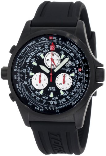 Torgoen Swiss Men's T01301 T01 Series Classic Black Aviation Watch
