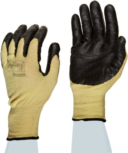 Ansell Hyflex 11-500 Kevlar Glove, Cut Resistant, Black Nitrile Palm Coating, Size 9 (Pack Of 1) front-559199