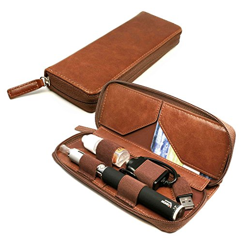 Tuff-Luv-Vintage-Faux-Leather-Luxury-Travel-case-refill-holder-for-E-Cig-Vape-Pen-Brown
