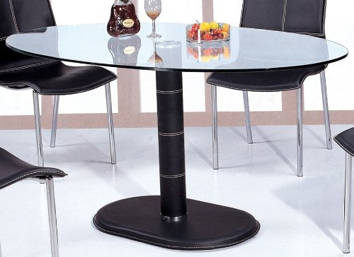Cheap Oval Glass Top Dining Table (GABRIELLA-DT)