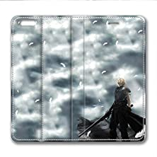 buy Iphone 6 6S Plus Leather Case Pu Material Hard Shell Flip Credit Card Holder Magnetic Stand Video Game Logo Poster Pattern Character Screen Adventure Fighting-Final Fantasy Vii 3