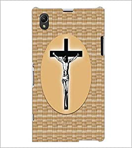 PrintDhaba Cross D-6068 Back Case Cover for SONY XPERIA Z1 (Multi-Coloured)