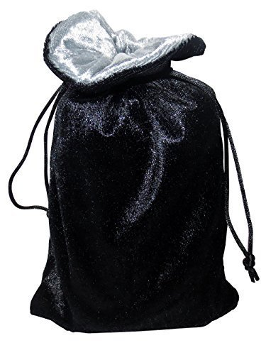 Rune/tarot Bag: Black and Silver Velvet Bag - 1