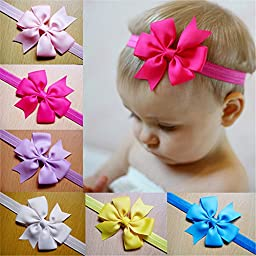 Lovely Baby Girl Headbands Cute Flower Hair Accessories Bows Hair Bands 12pcs