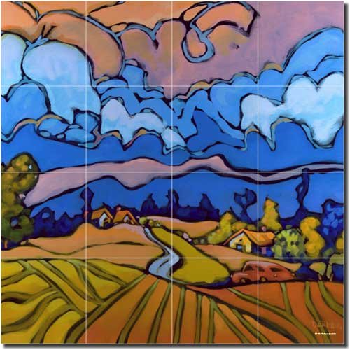 After the Storm by Don Tiller – Artwork On Tile Ceramic Mural 17″ x 17″ Kitchen Shower Backsplash