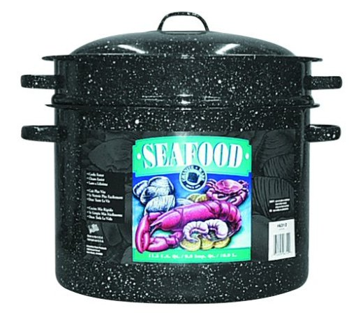 Granite Ware 6312-4 Seafood Pot with Steamer and Drainer Insert, 11.5-Quart