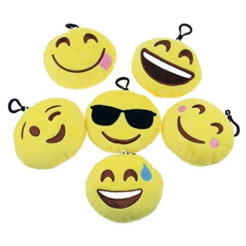 KUMEED 4 Inch Mini Emoji Face Expression Plush Key chains Bag Accessory by KUMEED