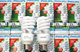 Genuine Philips Tornado Compact Fluorescent Spiral 23W E27 cap Cool Daylight Light Bulb (125W Equivalent, 8,000 Hours)6500K
